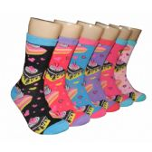 360 Units of Women's Cake & Hearts Crew Socks