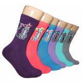 360 Units of Women's Cat Crew Socks