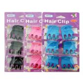 144 Units of 6 Piece Hair Clips