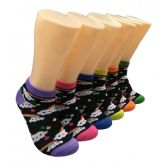 480 Units of Women's Clouds & Rainbows Low Cut Ankle Socks