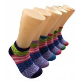 480 Units of Women's Mixed Patterns Low Cut Ankle Socks