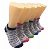 480 Units of Women's Smiles and Rainbows Low Cut Ankle Socks