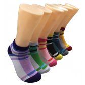 480 Units of Women's Striped Patterned Low Cut Ankle Socks