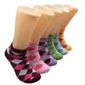 480 Units of Women's Argyle Low Cut Ankle Socks