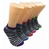 480 Units of Women's Zebrah Stripes Low Cut Ankle Socks