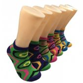 480 Units of Women's Abstract Design Low Cut Ankle Socks