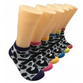 480 Units of Women's Patterned Low Cut Ankle Socks