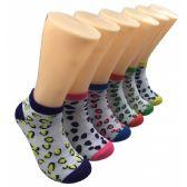 480 Units of Women's Bright Leopard Print Low Cut Ankle Socks