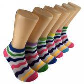 480 Units of Women's Wavy Stripe Low Cut Ankle Socks