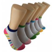 480 Units of Women's Rainbow Bottom Low Cut Ankle Socks