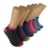 480 Units of Women's Thin Stripe Low Cut Ankle Socks