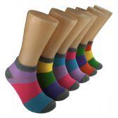 480 Units of Women's Color Block Low Cut Ankle Socks
