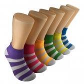 480 Units of Women's Bright Stripe Low Cut Ankle Socks