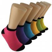 480 Units of Women's Bright Color Low Cut Ankle Socks