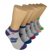 480 Units of Women's Spring Flowers Low Cut Ankle Socks