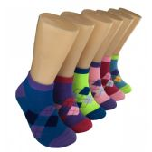 480 Units of Women's Classic Argyle Low Cut Ankle Socks