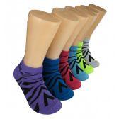 480 Units of Women's Jungle Stripes Low Cut Ankle Socks
