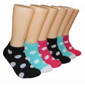 480 Units of Women's Polka Dot Low Cut Ankle Socks