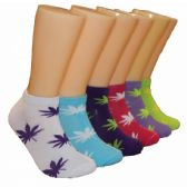 480 Units of Women's Marijuana Leaf Low Cut Ankle Socks