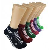 480 Units of Women's Sneaker Print Low Cut Ankle Socks