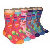 480 Units of Girls Ice Pop Print Crew Socks - Girls Crew Socks
