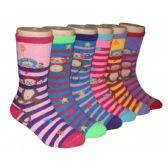 480 Units of Girls Monkey Bars Crew Socks - Girls Crew Socks