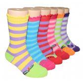 480 Units of Girls Fruit Stripe Crew Socks