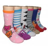 480 Units of Girls Fun Food Crew Socks - Girls Crew Socks