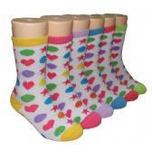 480 Units of Girls Shapes Crew Socks