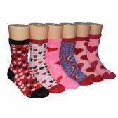 480 Units of Girls Hearts Crew Socks