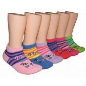 480 Units of Girls Kitten Low Cut Ankle Socks