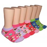 480 Units of Girls Ice Cream Shop Low Cut Ankle Socks