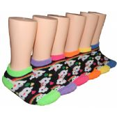 480 Units of Girls Clouds and Rainbows Low Cut Ankle Socks