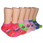 480 Units of Girls Cupcakes Low Cut Ankle Socks