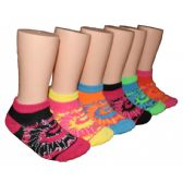 480 Units of Girls Tie Dye Low Cut Ankle Socks