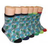 480 Units of Boys Graphics Printed Crew Socks