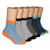 480 Units of Boys Assorted Stripe Crew Socks
