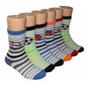 480 Units of Boys Sports Print Crew Socks