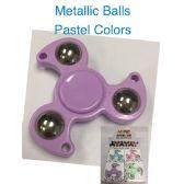 20 Units of Fidget Spinner/Metallic Balls--Pastel Colors