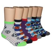 480 Units of Boys Assorted Sport Prints Crew Socks