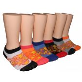 480 Units of Boys Flame Design Low Cut Ankle Socks - Boys Ankle Sock