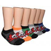 480 Units of Boys Skull Design Low Cut Ankle Socks