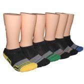 480 Units of Boys Sport Stripe Low Cut Ankle Socks