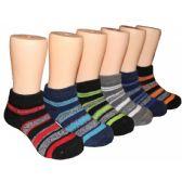 480 Units of Boys Stripe Low Cut Ankle Socks