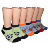 480 Units of Boys Soccer, Basketball, Baseball Low Cut Ankle Socks
