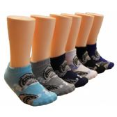 480 Units of Boys Shark Print Low Cut Ankle Socks