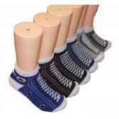 480 Units of Boys Sneaker Printed Low Cut Ankle Socks