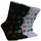 288 Units of Men's Marijuana Leaf Crew Socks