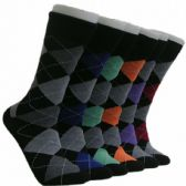 288 Units of Men's Classic Argyle Crew Socks