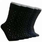 288 Units of Men's Polka Dot Crew Socks